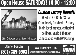 Open Houses Saturday!