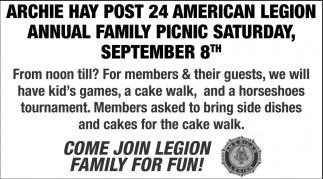 Annual Family Picnic