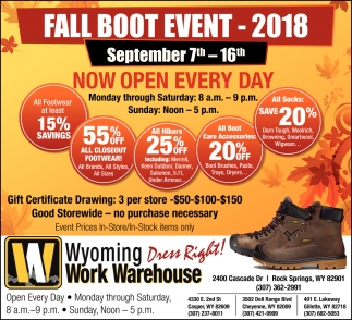 Fall Boot Event