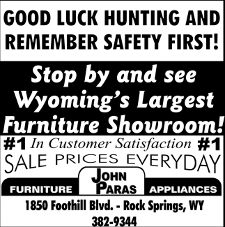 Wyoming's Largest Furniture Showroom