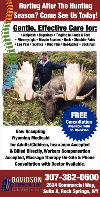 Hurting After the Hunting Season?, Davidson Chiropractic