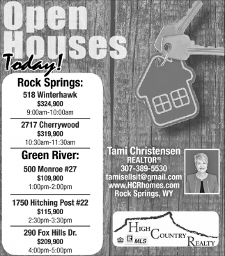 Open Houses Today!