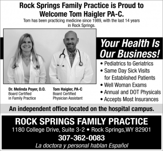 Your Health is our Business!