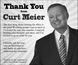 Thank You from Curt Meier