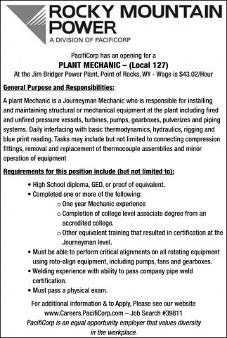 Plant Mechanic