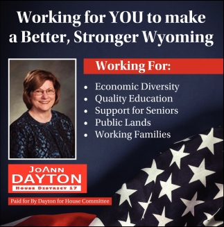 Working for You to Make a Better, Stronger Wyoming