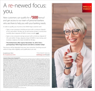 A Re-Newed Focus: You