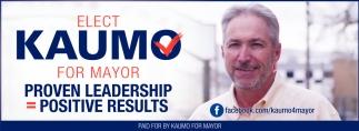 Elect Kaumo for Mayor