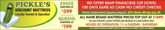 All Name Brand Mattress Prices Top Out at $1099!