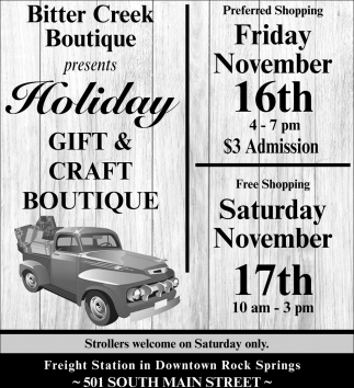 Holiday Gift & Craft Boutique