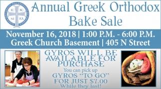 Annual Greek Orthodox Bake Sale