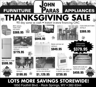 Lots more Savings Storewide!