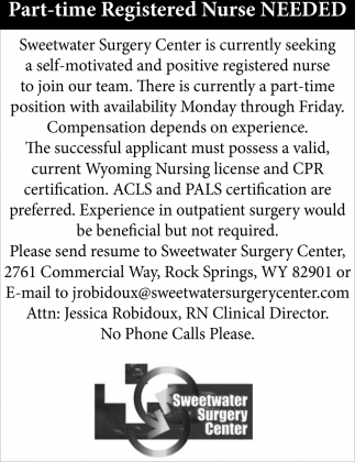 Part-Time Registered Nurse