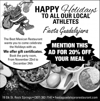 Happy Holidays to All Our Local Athletes
