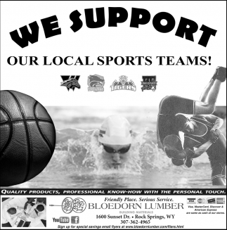We support Our Local Sports Teams