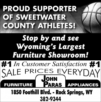 Proud Supporter of Sweetwater County Athletes!