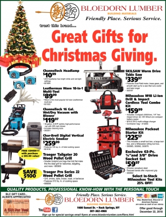Great Gifts for Christmas Giving