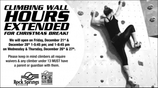 Climbing Wall Hours Extended