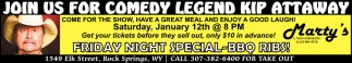 Join Us for Comedy Legend Kip Attaway