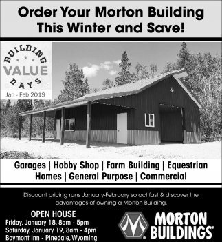 Order Your Morton Building this Winter and Save