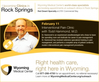 Upcoming Clinics in Rock Springs