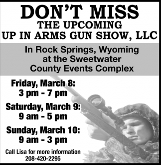 Don't Miss the Up in Arms Gun Show