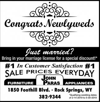 Congrats Newlyweds