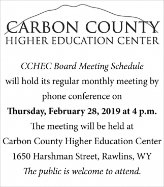 CCHEC Board Meeting Schedule