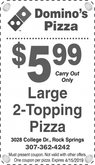 Large 2- Topping Pizza