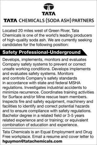 Safety Professional-Underground