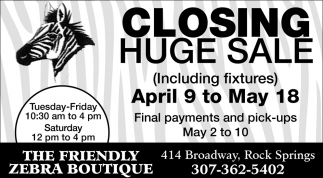 Closing Huge Sale