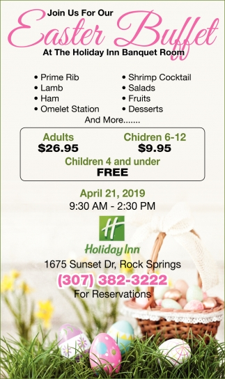 Join us for easter buffet