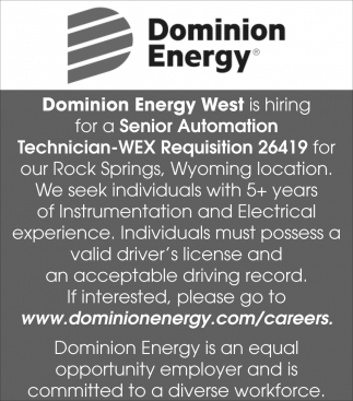 Senior Automation Technician-WEX Requisition 26419