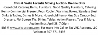 Chris & Vaslie Leventis Moving Auction On-Line Only