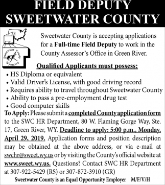 Field Deputy Sweetwater County