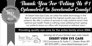 #1 Optometrist In Sweetwater County