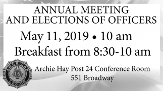 Annual Meeting and Elections of Officers