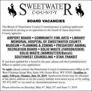 Board Vacancies
