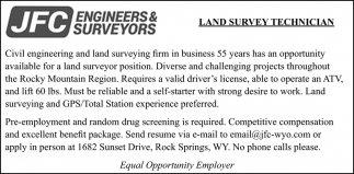 Land Survey Technician