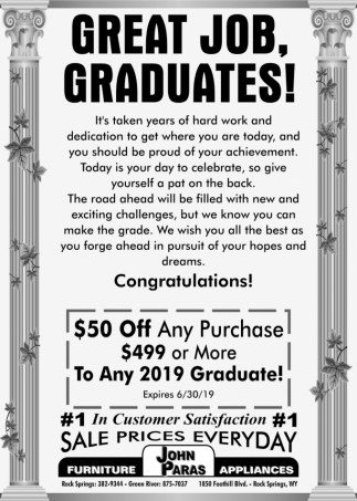 Great Job, Graduates!