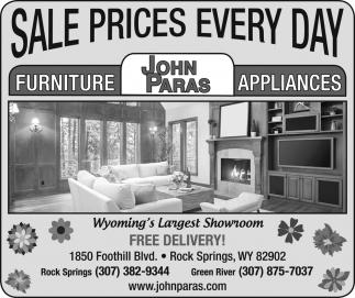 John Paras Furniture, John Paras Furniture Rock Springs Wyoming