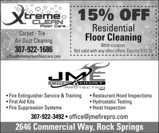 15% OFF Residential Floor Cleaning
