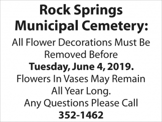 Flower Decorations Must Be Removed