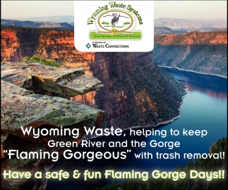 Have a Safe & Fun Flaming Gorge Days