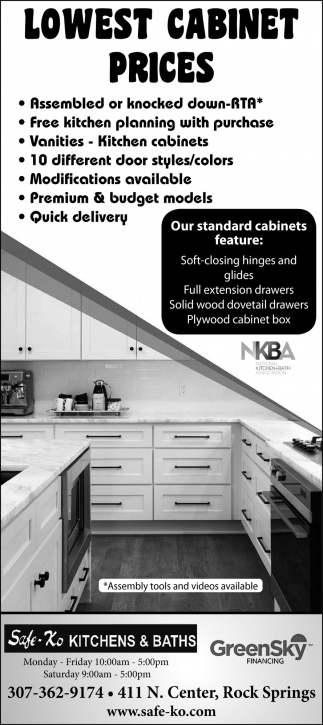 Lowest Cabinet Prices