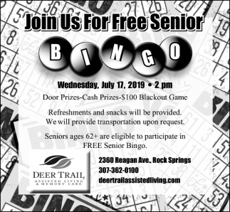 Join Us for Free Senior