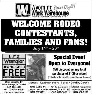 Welcome Rodeo Contestants