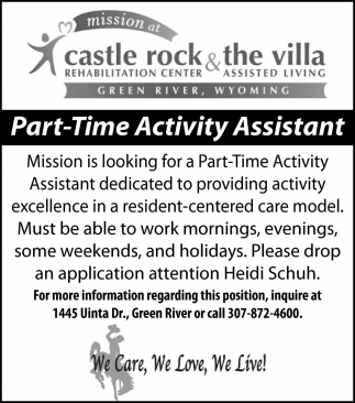 Part Time Activity Assistant