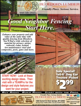 Good Neighbor Fencing Start Here