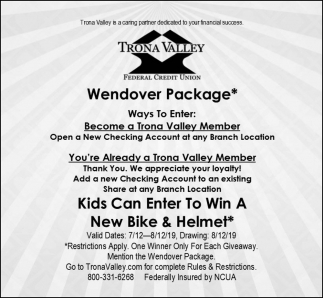 Wendover Package